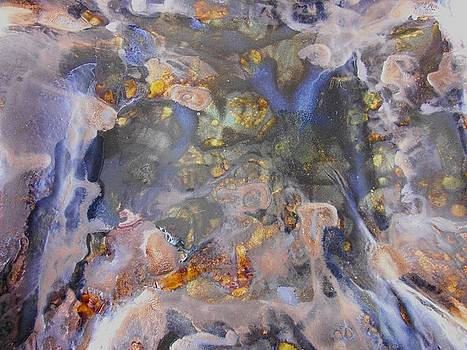 73. Metallic Organic Abstract by Maggie Minor