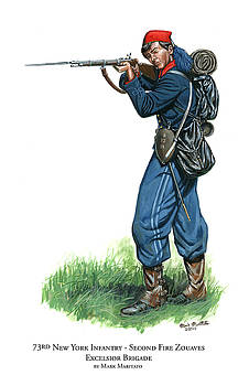 73rd New York Infantry - Second Fire Zouaves - Excelsior Brigade by Mark Maritato