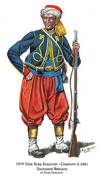 74th New York Infantry - Company A - Excelsior Brigade by Mark Maritato
