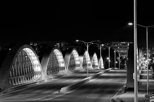 7th street Bridge Fort Worth B/W by Rospotte Photography