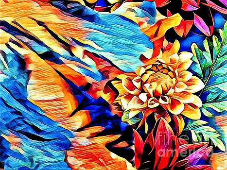 Floral Abstract by Debra Lynch