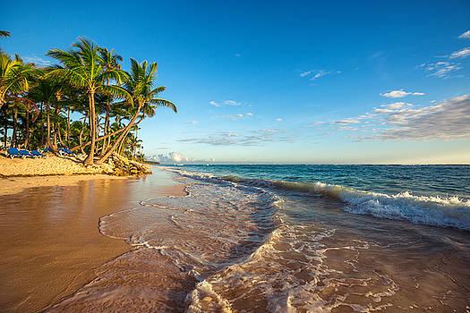 Landscape of paradise tropical island beach by Valentin Valkov