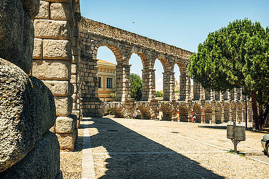 Eduardo Huelin - The famous ancient aqueduct in Segovia Spain