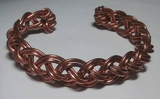Woven Copper Wire Bracelet  by Darlene Ryer