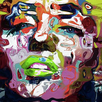80B Abstract Face by Nixo by Nicholas Nixo