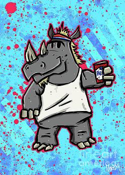 80's Party Rhino by Morgan Richardson