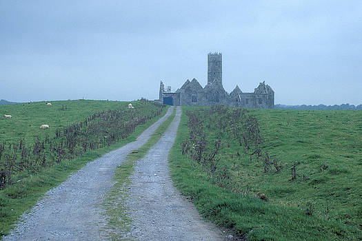 Deserted Abbey in Ireland by Carl Purcell
