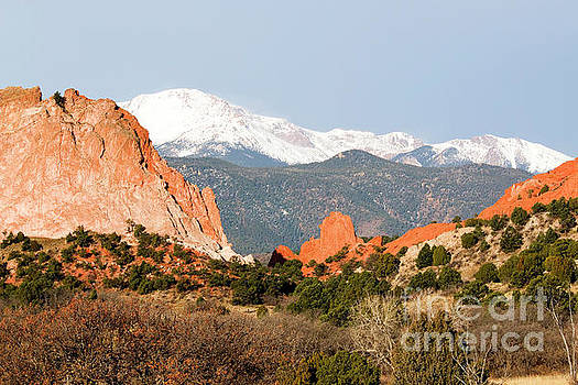Steve Krull - Pikes Peak Towering over Garden of the Gods