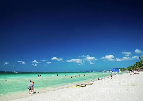 Main Beach Of Tropical Paradise Boracay Island Philippines by Jacek Malipan