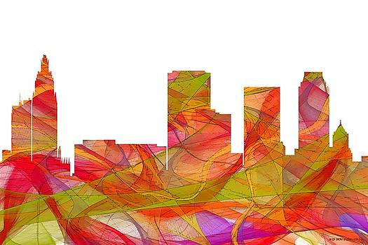 Tulsa Oklahoma Skyline by Marlene Watson