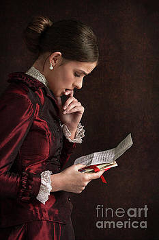 Victorian Woman Reading A Letter by Lee Avison