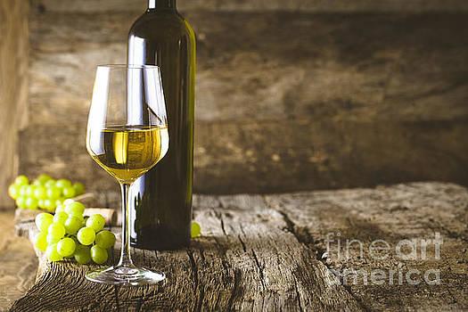 Wine on wood by Mythja Photography