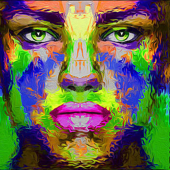 90 Abstract Face by Nixo by Nicholas Nixo