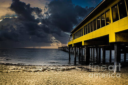 900 Foot Fishing Pier by Gary Keesler