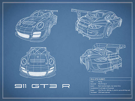 Mark rogan artwork collection car blueprint collection mark rogan 911 gt3 r blueprint malvernweather Images