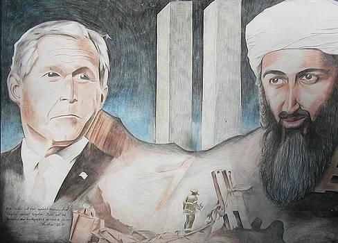 911 Tragedy Bush vs Bin Laden by Bennie Parker