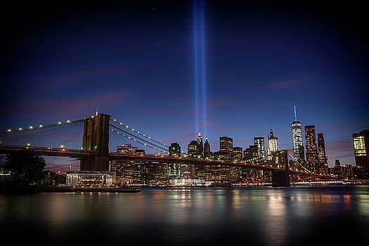 911 Tribute Lights 15 Years Later 2 by Dennis Clark
