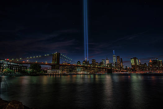 911 Tribute Lights 15 Years Later 3 by Dennis Clark