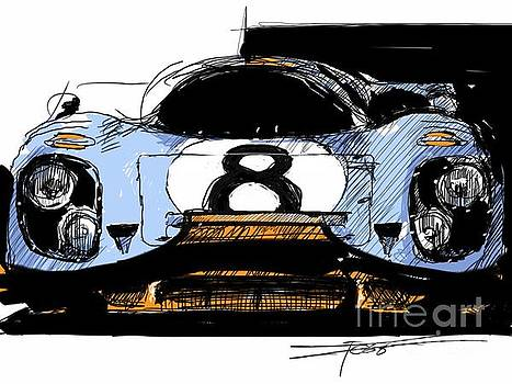 917 Illustration Head On by Peter Fogg