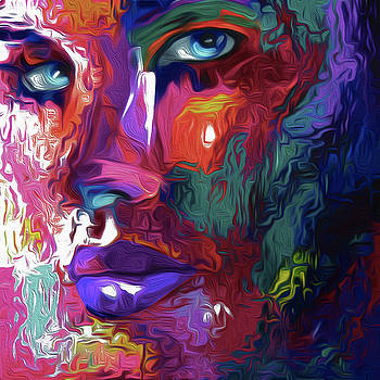 92 Abstract Face by Nixo by Nicholas Nixo