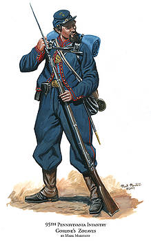 95th Pennsylvania Infantry - Gosline's Zouaves by Mark Maritato