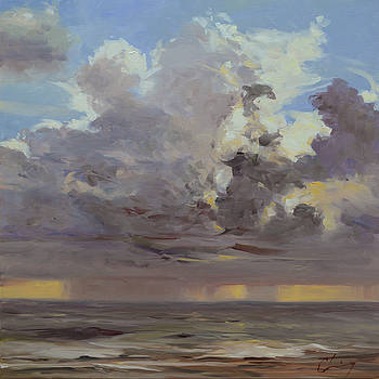 960 Virginia Beach - Spring Storms by Chuck Larivey