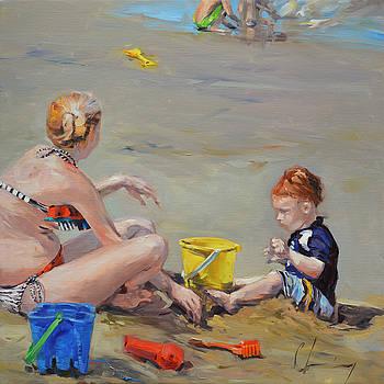 968 Redhead and Beach Plastic by Chuck Larivey