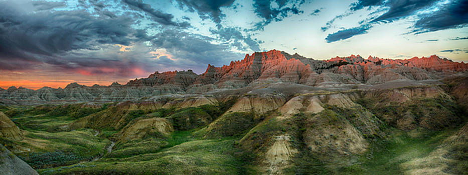 A Badlands Sunrise by Christopher L Nelson