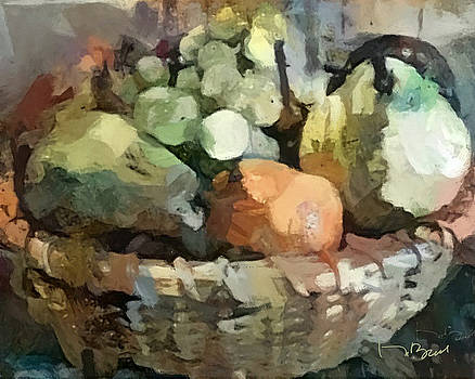 A Basket of Fruit in Wall Colors by Don Berg