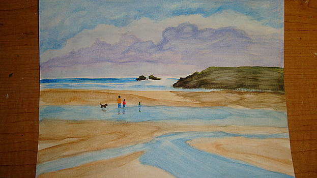 A Beach scene by Indhu Frank