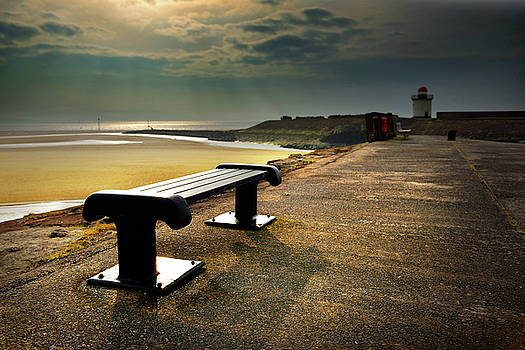 A bench by the sea by Phil Fitzsimmons
