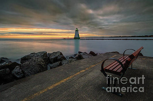 A Bench With A Golden View by Doug Hagadorn