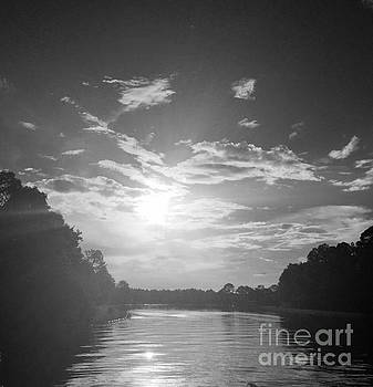 A Black and White Sunset by Linda Dautorio