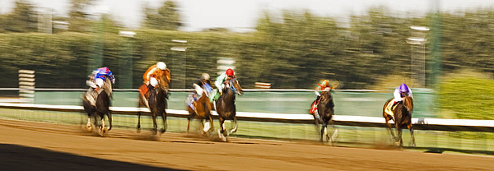 A Blur of Speed Down the Stretch by Mark Hendrickson