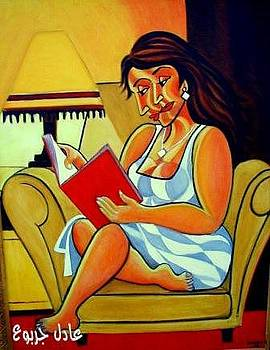 A Book Reader by Adel Jarbou