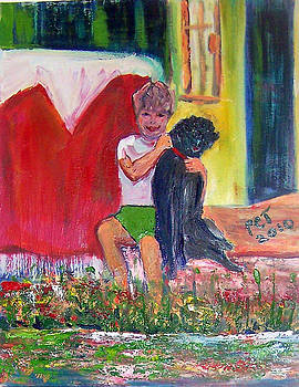 Patricia Taylor - A Boy and his Dog very happy in Italy