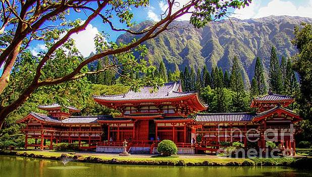 Buddhist Temple - Oahu, Hawaii - by D Davila