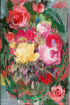 A Bunch of Beautiful Painted Roses by Clive Littin