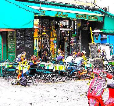 Jan Matson - A cafe scene in Paris