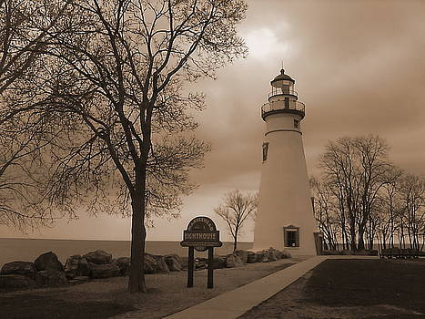 A Calm  Silence Lighthouse by Jackie Bodnar