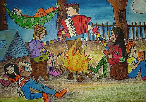 A  Campfire night  by Aditi Laddha
