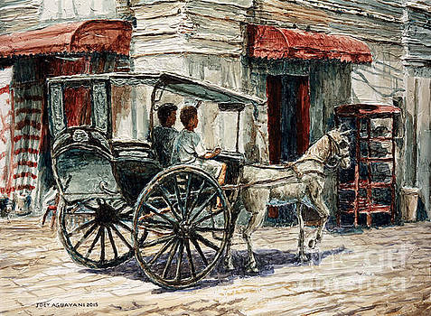 A Carriage on Crisologo Street by Joey Agbayani