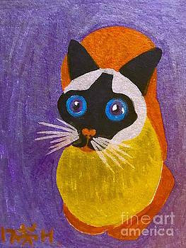 A cat  by Wonju Hulse