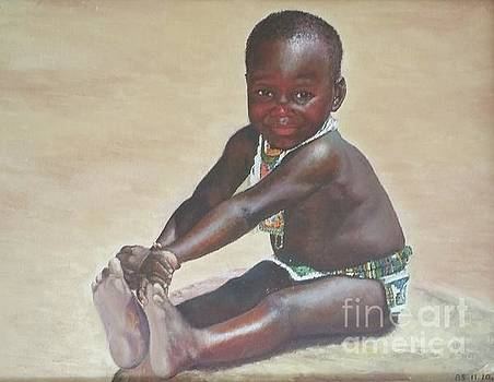 A child from South Africa by Sze oi Lau