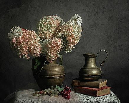 Hydrangea ala Caravaggio by Jerri Moon Cantone