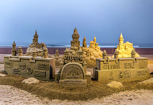 A Cloudy Sunrise At The Sand Castles by Devin LaBrie