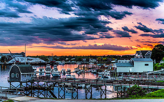 A Cloudy Sunset From The Memorial Bridge by Devin LaBrie
