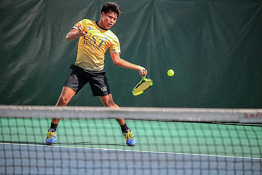 A college Tennis player from UST by Jim De Ramos
