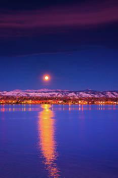 John De Bord - A Colorado Moonset