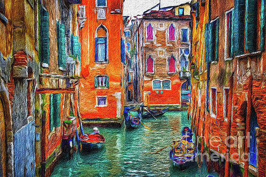 A colorful waterway canal in Venice by Amy Cicconi
